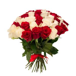 29 White and Red Roses Ukraine